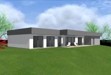 Pasivní bungalov 5+kk s rovnou střechou a dvougaráží