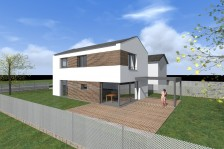 Moderní RD se sedlovou střechou