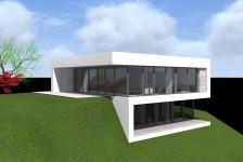 Moderní rodinný dům ve svahu Plzeň