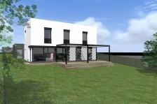 Moderní pasivní rodinný dům 4+kk s rovnou střechou