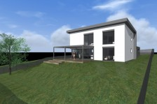 Moderní rodinný dům s pultovou střechou