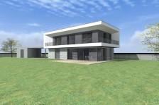 Moderní pasivní rodinný dům s balkonem
