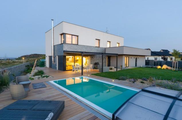Pasivní dům s plochou střechou