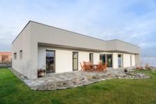 Pasivní bungalov s plochou střechou