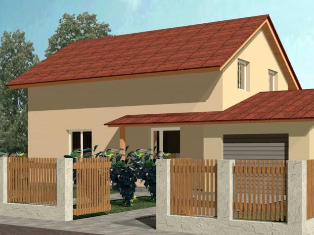 Projekt rodinného domu s garáží 4+kk sedlová střecha, 008 p č.1