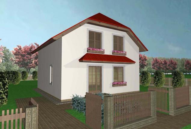 Projekt rodinného domu 5+kk se sedlovou střechou, 010 č.1
