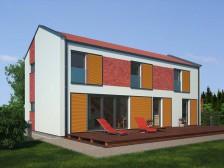 Projekt dřevostavby 5+kk, se vzdušným interiérem, 013