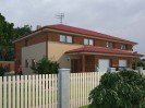 Projekt dvojdomu dřevostavby 5+kk s garáží, RD 015