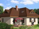 Projekt bungalov s podkrovím tvaru L, 5+kk se skladem, 016