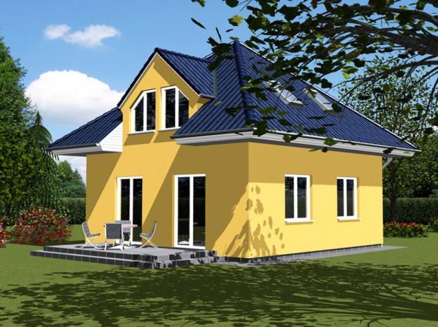 Projekt dřevostavby 5+kk s vikýři, valbovou střechou, RD 017 č.1