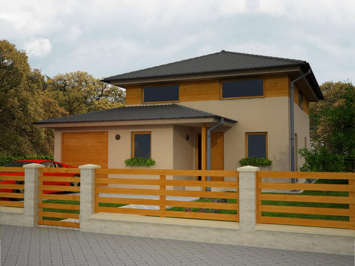 Obl ben modern d evostavba 6 kk s gar a pracovnou for Moderni piani di casa eco