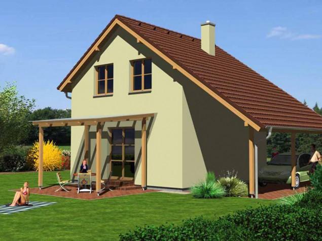 Projekt rodinného domu 3+kk se sedlovou střechou, 026 č.1