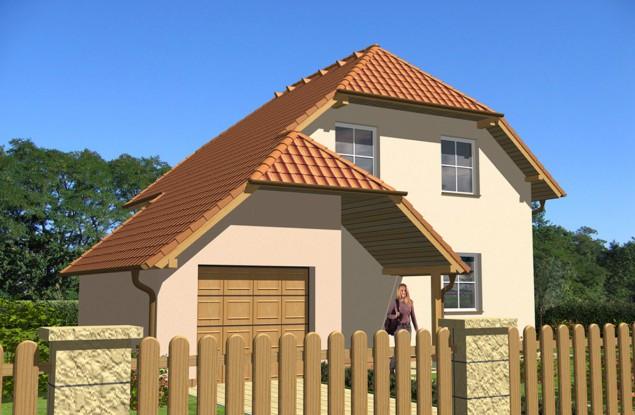 Projekt rodinného domu s garáží a polovalbou 5+kk, 032 č.1