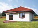 Projekt přízemní dům se skladem 3+1 / kk, šikmá střecha, 036