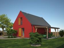 Projekt moderní dřevostavby 4+kk, s možností v CHKO, 043
